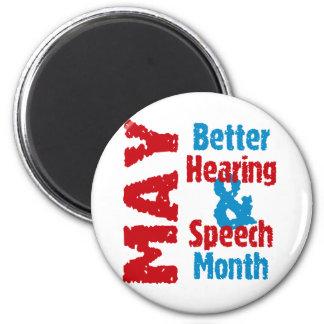 Una mejores audiencia y mes del discurso imán redondo 5 cm