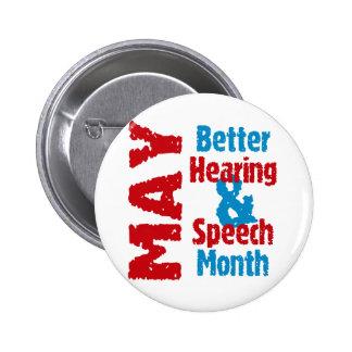 Una mejores audiencia y mes del discurso pin redondo de 2 pulgadas