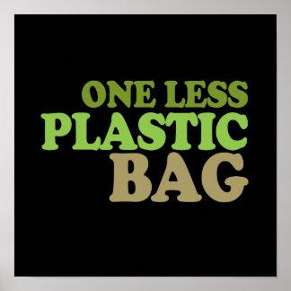 Una menos camiseta de la bolsa de plástico/camiset posters