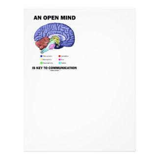 Una mente abierta es dominante a la comunicación plantillas de membrete