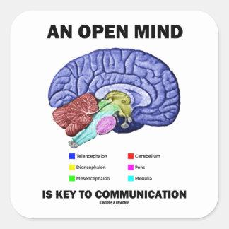 Una mente abierta es dominante a la comunicación colcomanias cuadradases