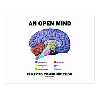 Una mente abierta es dominante a la comunicación ( tarjetas postales