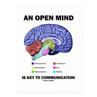 Una mente abierta es dominante a la comunicación ( tarjeta postal
