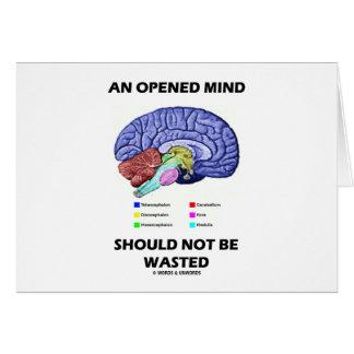 Una mente abierta no debe ser perdida el cerebro tarjeton