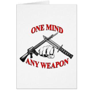 Una mente cualquier arma MCMAP Tarjeta De Felicitación