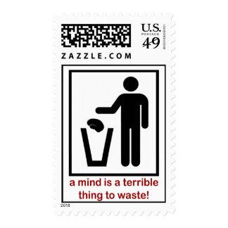 ¡Una mente es una cosa terrible a perder! Sello