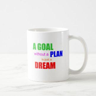 Una meta sin un plan es apenas una taza de café