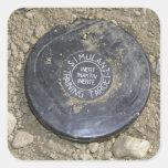 Una mina simulada pegatina cuadrada