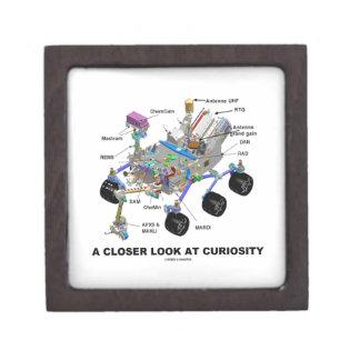Una mirada más atenta en la curiosidad (NASA Rover Caja De Recuerdo De Calidad