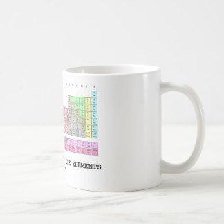 Una mirada más atenta en los elementos (química) taza básica blanca