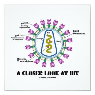 """Una mirada más atenta en VIH (virología de Viron) Invitación 5.25"""" X 5.25"""""""
