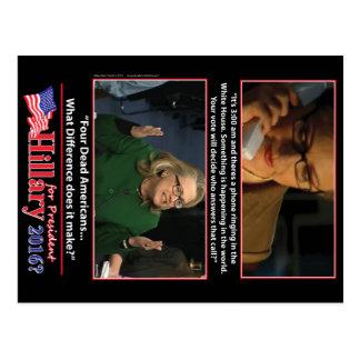 Una mirada sarcástica en Hillary para el Postales