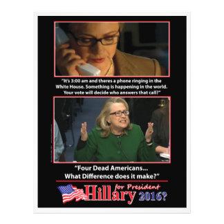 """Una mirada sarcástica en Hillary para el president Folleto 8.5"""" X 11"""""""