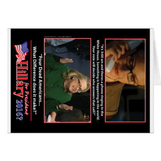 Una mirada sarcástica en Hillary para el Tarjeta De Felicitación