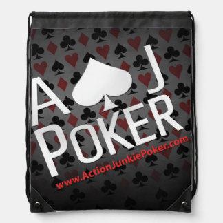 Una mochila del jugador de póker