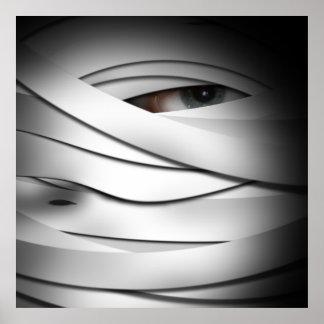 Una momia observada espeluznante asustadiza de póster