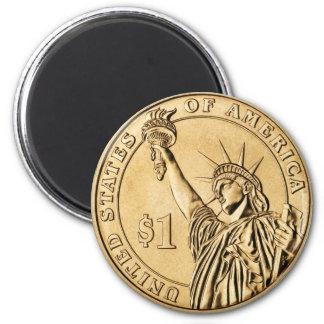 Una moneda presidencial del dólar 2007 de la menta imán redondo 5 cm