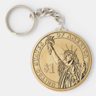 Una moneda presidencial del dólar 2007 de la menta llavero redondo tipo pin