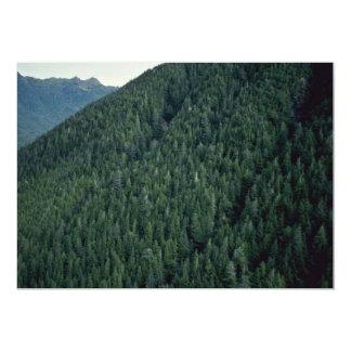 Una montaña sin tocar ideal invitaciones personalizada
