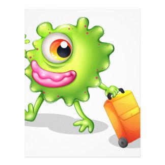 Una mudanza verde tuerta del monstruo membretes personalizados