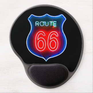 Una muestra de neón Mousepad de la ruta 66 Alfombrilla Gel