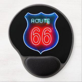Una muestra de neón Mousepad de la ruta 66 Alfombrillas Con Gel