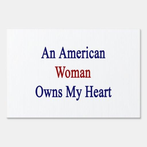 Una mujer americana posee mi corazón