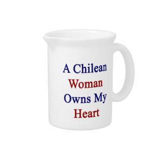 Una mujer chilena posee mi corazón jarras