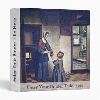 Una mujer con un niño en una despensa. [1] Por Pie