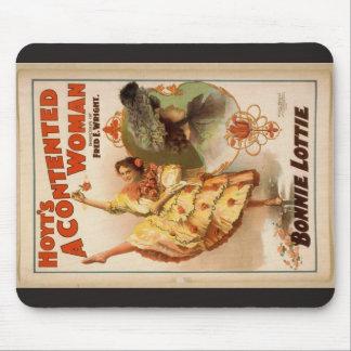 Una mujer contenta teatro del vintage de Bonnie Alfombrillas De Raton