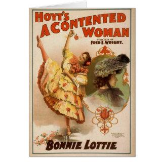 Una mujer contenta teatro del vintage de Bonnie Felicitaciones