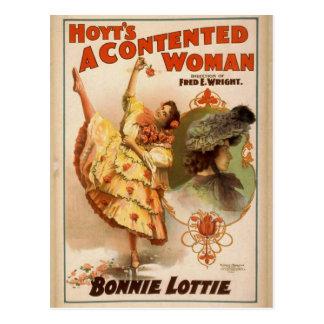 Una mujer contenta teatro del vintage de Bonnie Postal