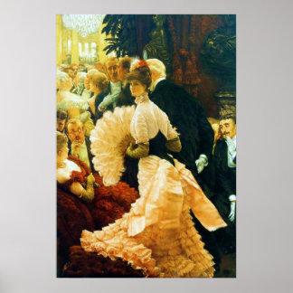Una mujer de la bella arte del ~ de James Tissot d Poster