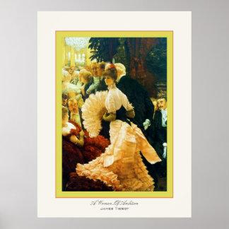 Una mujer de la bella arte del ~ de James Tissot d Póster