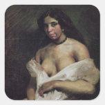 Una mujer del mulato, c.1821-24 calcomanía cuadrada