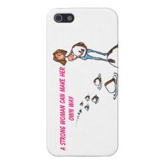 Una mujer fuerte puede hacer que ella posee el cas iPhone 5 carcasa