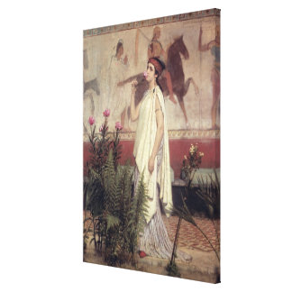 Una mujer griega, 1869 (aceite en lona) lona envuelta para galerias