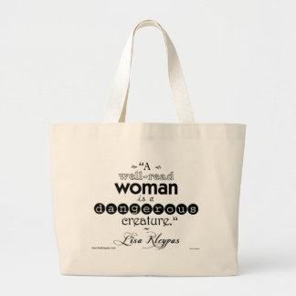 Una mujer instruida. Bolso Bolsa Tela Grande