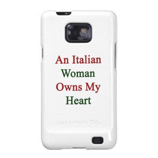 Una mujer italiana posee mi corazón galaxy s2 fundas