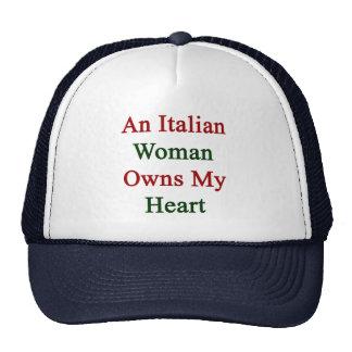 Una mujer italiana posee mi corazón gorras de camionero