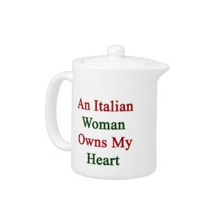 Una mujer italiana posee mi corazón