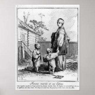 Una mujer judía casada y sus niños posters