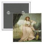 Una mujer llamó a Anne, la esposa del artista, c.1 Pin Cuadrado