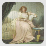 Una mujer llamó a Anne, la esposa del artista, Pegatina Cuadrada