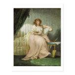 Una mujer llamó a Anne, la esposa del artista, Postal