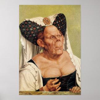 Una mujer mayor grotesca, posiblemente princesa Ma Impresiones