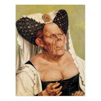 Una mujer mayor grotesca, posiblemente princesa postal