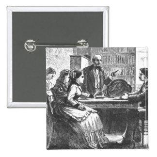 Una mujer negocia con un encargado de fábrica, ass pins