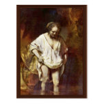 Una mujer que se baña. Por Rembrandt Van Rijn Tarjetas Postales