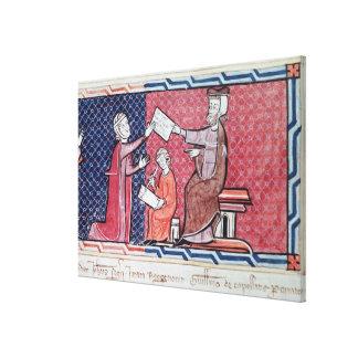 Una mujer que toma un juramento impresión en lienzo estirada